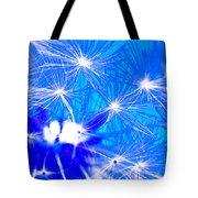 Dendelion Blue Tote Bag