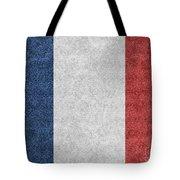 Denim France Flag Illustration Tote Bag