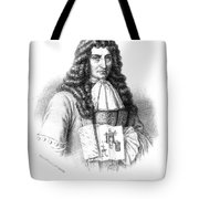 Denis Papin With Steam Engine Diagram Tote Bag