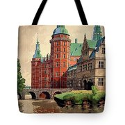 Denmark, Castle, Romance Of The Middle Ages Poster Tote Bag