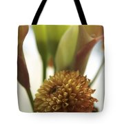 Denmark Close Up Brown Dahlia Tote Bag