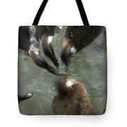 Denmark Group Of Ducks Ducking Tote Bag