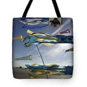 Denmark, Romo, Kites Flying At Beach Tote Bag