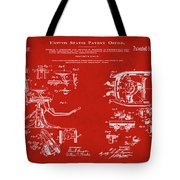 Dentists Chair Patent 1892 In Red Tote Bag