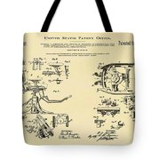 Dentists Chair Patent 1892 In Sepia Tote Bag