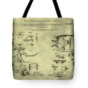 Dentists Chair Patent 1892 In Vintage  Tote Bag