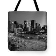 Denver At Night B W Tote Bag