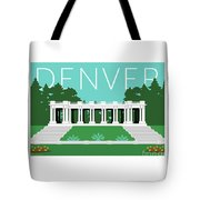 Denver Cheesman Park/lt Blue Tote Bag by Sam Brennan