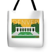 Denver Cheesman Park/gold Tote Bag by Sam Brennan