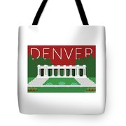 Denver Cheesman Park/maroon Tote Bag by Sam Brennan