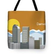 Denver Colorado Horizontal Skyline Print Tote Bag