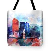 Denver, Colorado Skyline Tote Bag