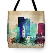 Denver Colorado Vintage Skyline Tote Bag
