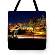 Denver Night Skyline Tote Bag