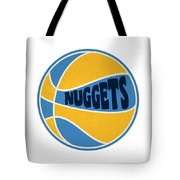 Denver Nuggets Retro Shirt Tote Bag