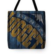 Denver Nuggets Wood Fence Tote Bag