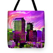 Denver Skyline Tote Bag