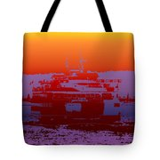 Departing Ferry 2 Tote Bag