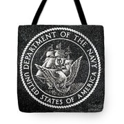 Department Of The Navy Emblem Polished Granite Tote Bag