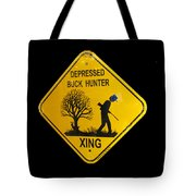 Depressed Buck Hunter Tote Bag