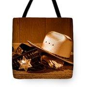 Deputy Sheriff Gear - Sepia Tote Bag