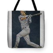 Derek Jeter New York Yankees Art 2 Tote Bag