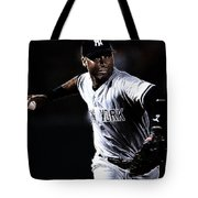 Derek Jeter Tote Bag by Paul Ward