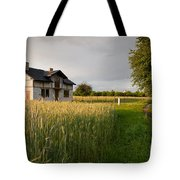 Derelict Disused House In Field Tote Bag