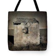 Derelict Hut  Textured Tote Bag