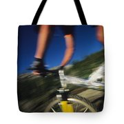 Descending A Mountain Trail Into Yankee Tote Bag