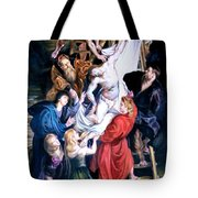 Descent From The Cross After Peter Paul Rubens Tote Bag
