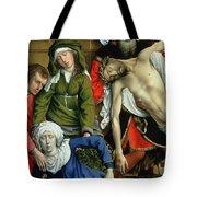 Descent From The Cross Tote Bag by Rogier van der Weyden