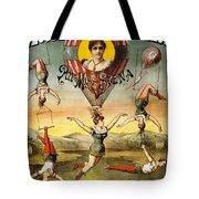 Descente D'absalon Par Miss Stena - Aerialists, Circus - Retro Travel Poster - Vintage Poster Tote Bag