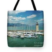 Desenzano Del Garda Lighthouse Italy Tote Bag