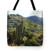 Desert Blossoms As The Rose Tote Bag