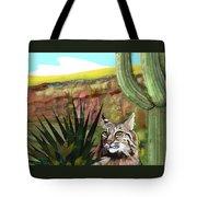 Desert Bobcat Tote Bag