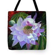 Desert Cactus Flower Tote Bag