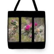 Desert Cactus Triptych Tote Bag