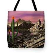 Desert Cartoon Tote Bag