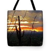 Desert City Sunset Tote Bag