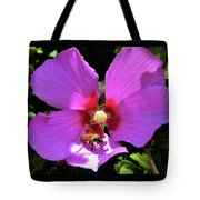 Desert Hibiscus With Honey Bee Tote Bag