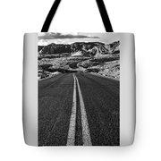 Desert Journey B/w Tote Bag