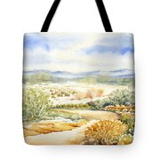 Desert Landscape Watercolor Tote Bag