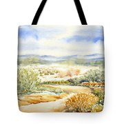 Desert Landscape Watercolor Tote Bag