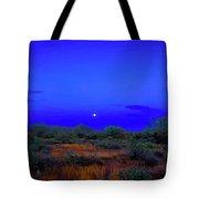 Desert Moon Scape Tote Bag