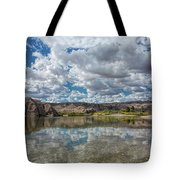 Desert River Cloud Reflection Tote Bag