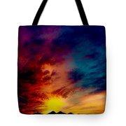 Desert Skull Of The Saguaro Sunset #3 Tote Bag