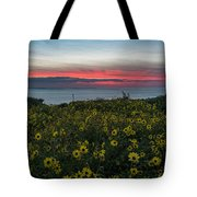 Desert Sunflowers Coastal Sunset Tote Bag