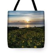 Desert Sunflowers Coastal Sunset 2 Tote Bag