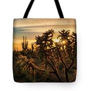 Desert Sunshine Shining Through  Tote Bag